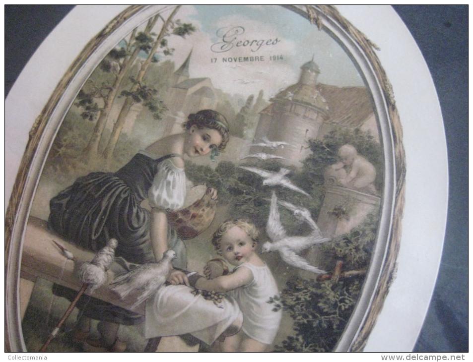 100 ETIQUETTES Labels 15 X 20cm Sugar Beans Suikerbonen, Litho Geboorte Naiscance Geburtstag Birthday  EXCELLENT Lables - Birth & Baptism