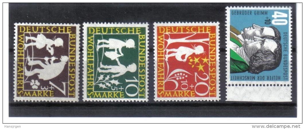 SAR181  BRD  1959  MICHL 322/25  ** Postfrisch SIEHEBILDUNG - BRD