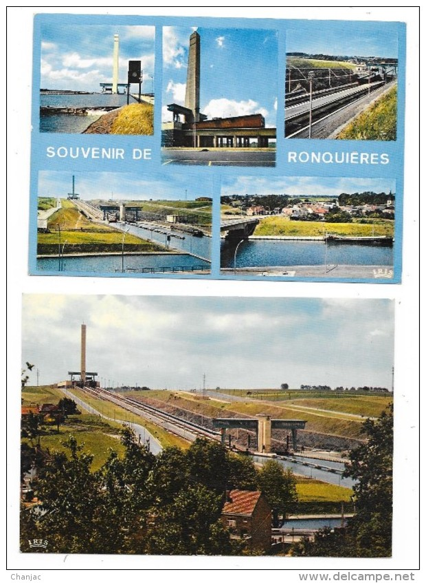 Cpsm: BELGIQUE - BRAINE LE COMTE - RONQUIERES Plan Incliné (Canal, Péniche) 6 Cartes - Braine-le-Comte