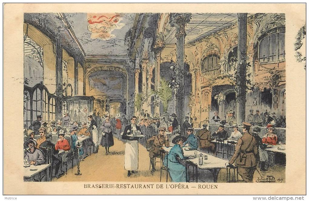 ROUEN - Brasserie Restaurant De L'Opéra, Carte Illustrée. - Rouen