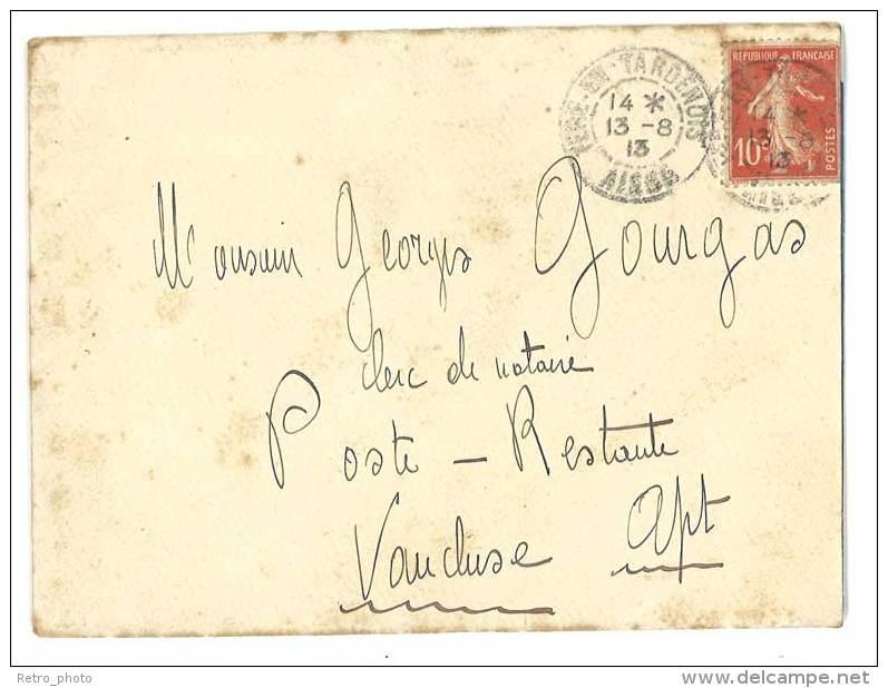 Lettre Postée De Fère En Tardenois Vers Apt ( Vaucluse ), Tampon Au Verso Pierre Pourgue (?), Notaire - Autres