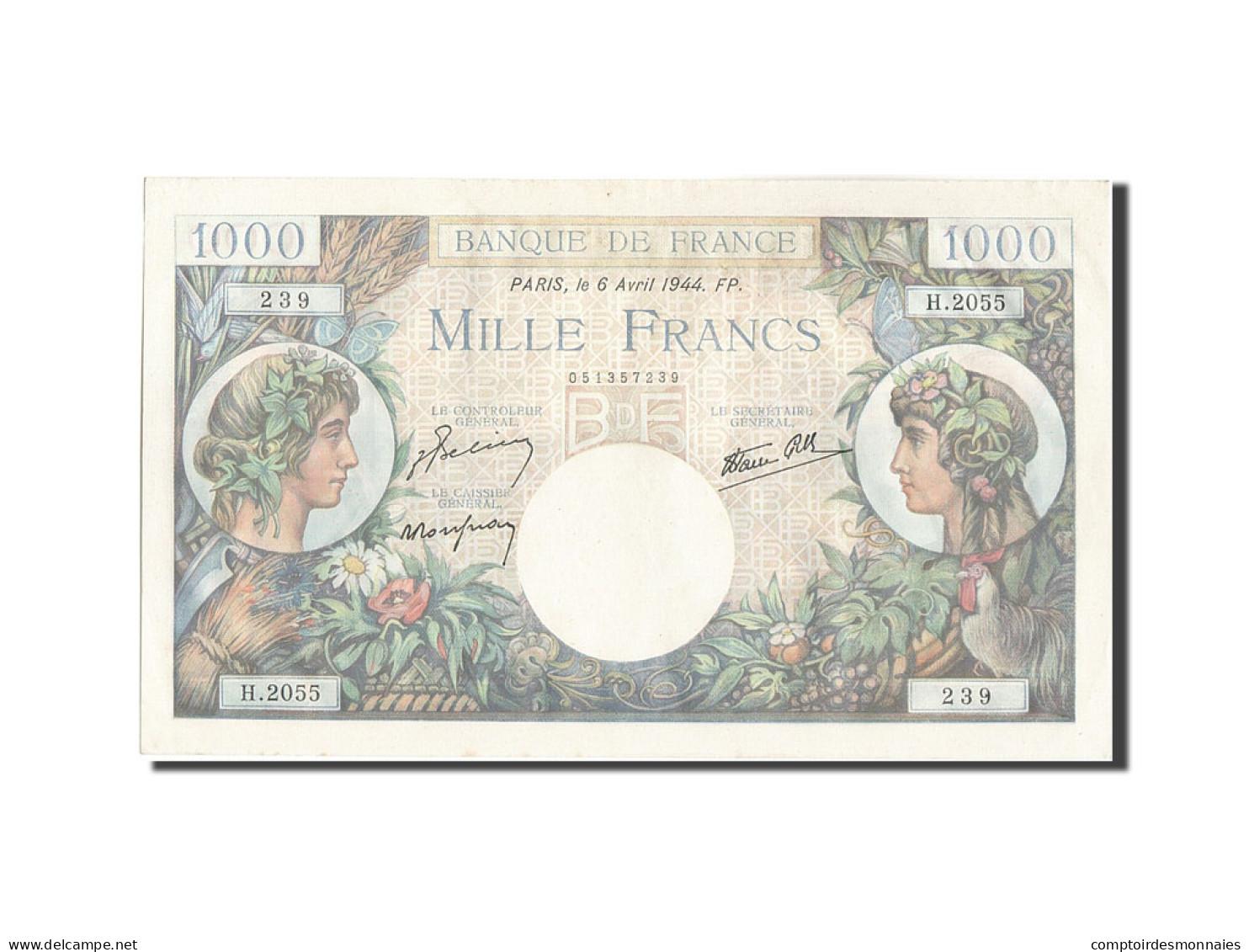 France, 1000 Francs, 1 000 F 1940-1944 ''Commerce Et Industrie'', 1944, 1944-... - 1871-1952 Frühe Francs Des 20. Jh.