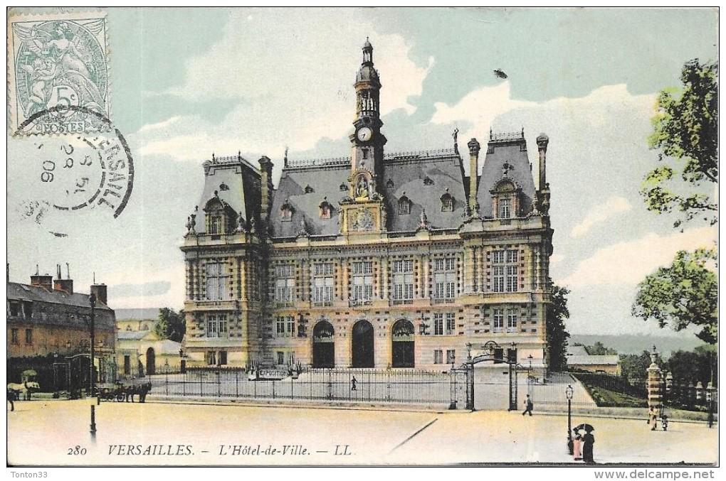 VERSAILLES - 78 -   CPA COLORISEE - L'Hotel De Ville - ENCH1202 - - Versailles
