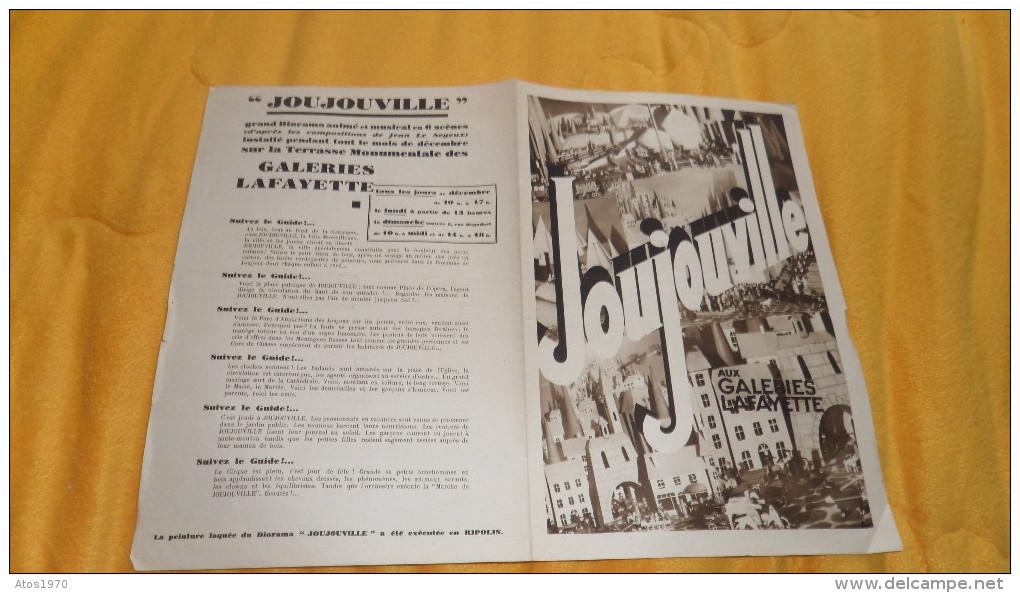 PARTITION ANCIENNE DE 1930. / JOUJOUVILLE AUX GALERIES LAFAYETTE. JEAN LE SEYEUX - Scores & Partitions