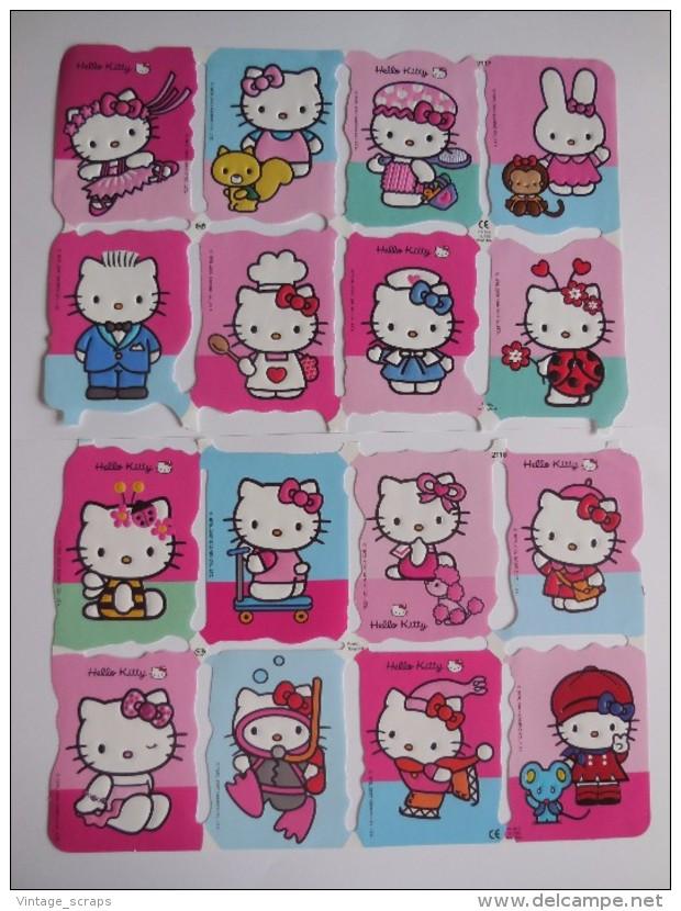 SCRAPS MLP 2117/18 Hello Kitty 2 Sheets Glanzbilder Oblaten Mamelok Cardmaking Decoupage Die-Cuts Children's Projects - Scrapbooking