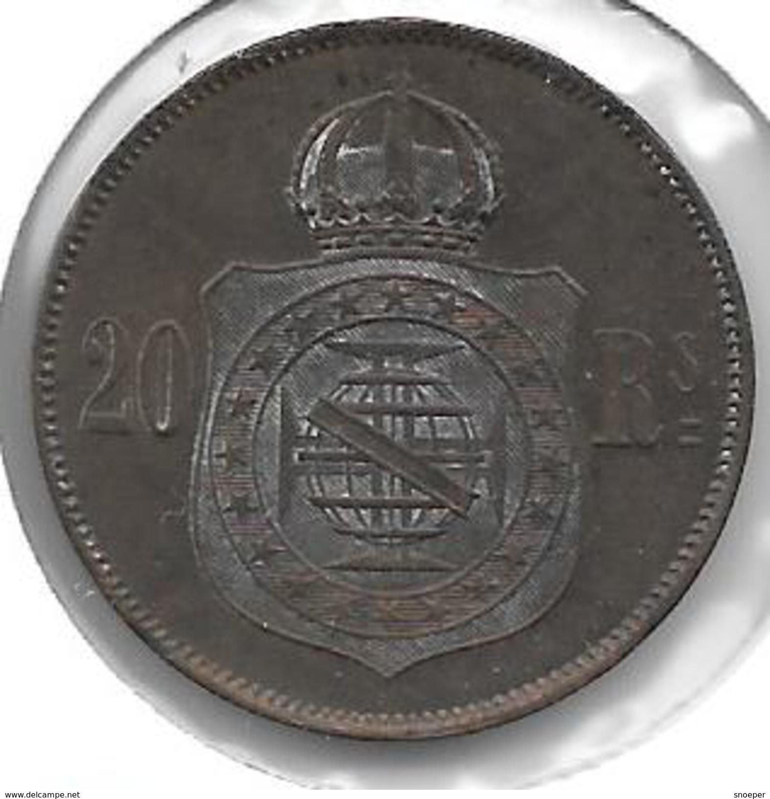 *brazil 20 Reis 1869  Km 474  Vf+ - Brésil