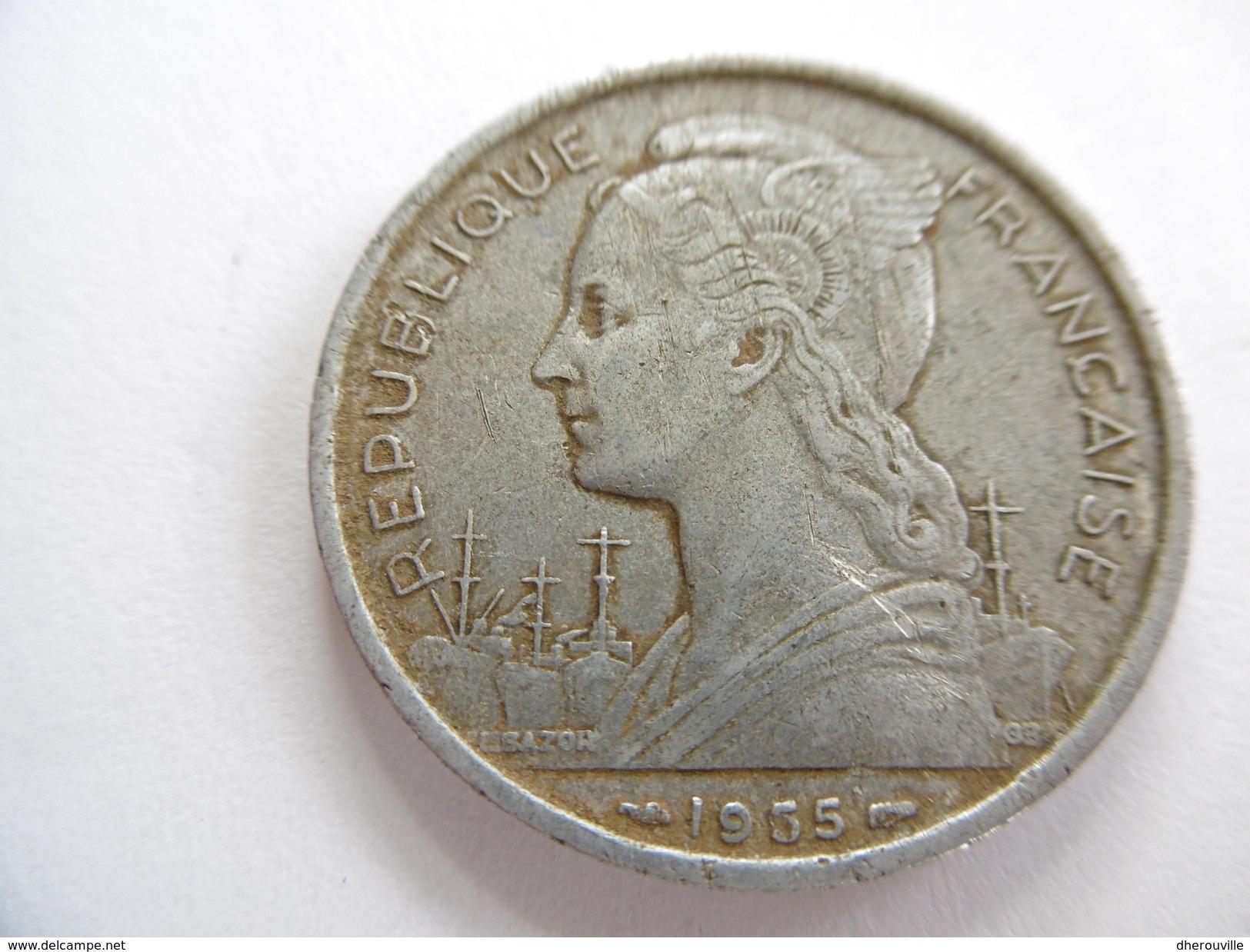 Pièce De 5 Francs CFA, 1955 - Réunion