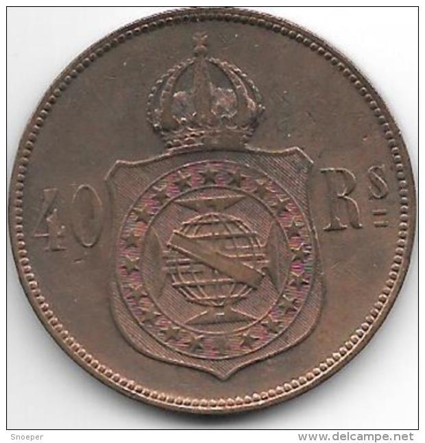 *brazil 40 Reis 1873  Km 479  Vf+ - Brésil