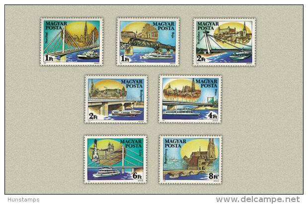 Hungary 1985. Dunau Ships Nice  Set MNH (**) Michel: 3733-3739 - Ungarn