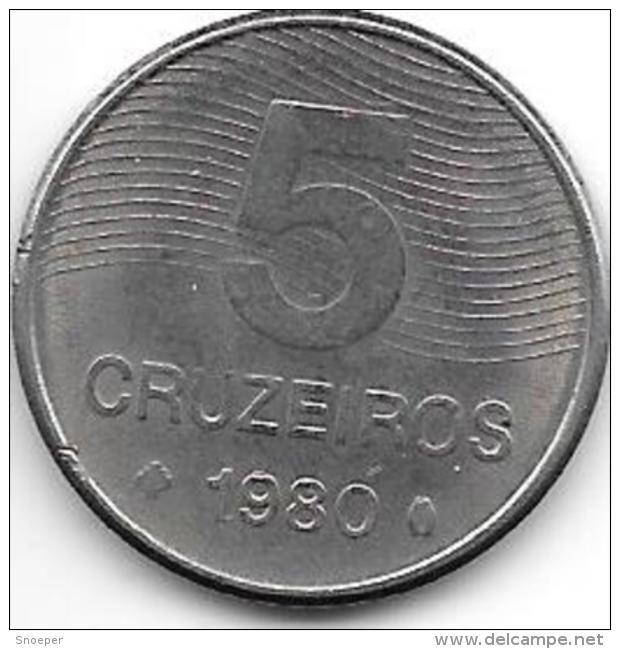 Brazil 5 Cruzerios 1980  Km 591 - Brésil