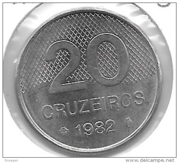 *brazil 20 Cruzerios 1982  Km 593.1  Xf+ - Brésil