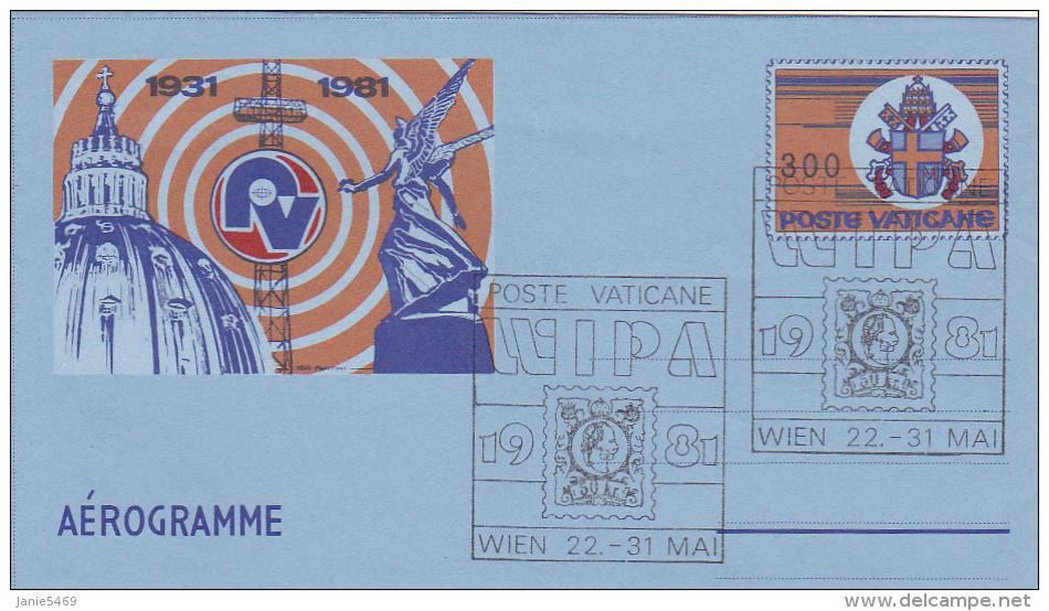 Vatican City 1981 Wipa 81 Souvenir Aerogramme - Vatican