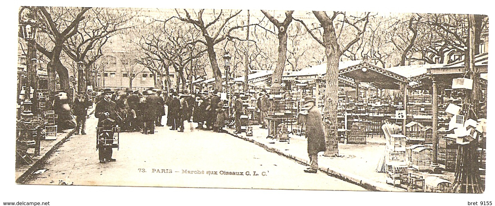 PARIS LE MARCHE AUX OISEAUX CARTE POSTALE DITE MIGNONNETTE - Petits Métiers à Paris