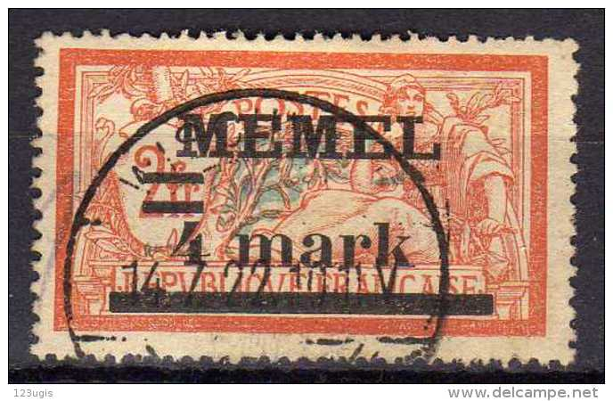 Memel 1920 Mi 31 I X, Gestempelt [300416XIV] - Memelgebiet