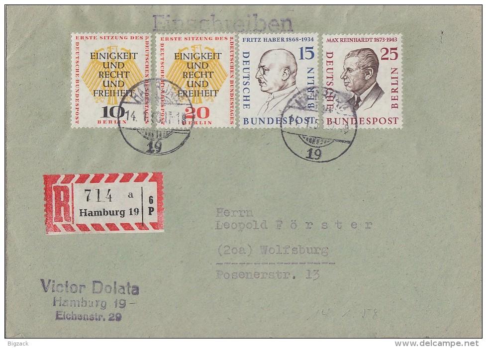 Berlin R-Brief Mif Minr.166,169,174, 175 Hamburg - Berlin (West)