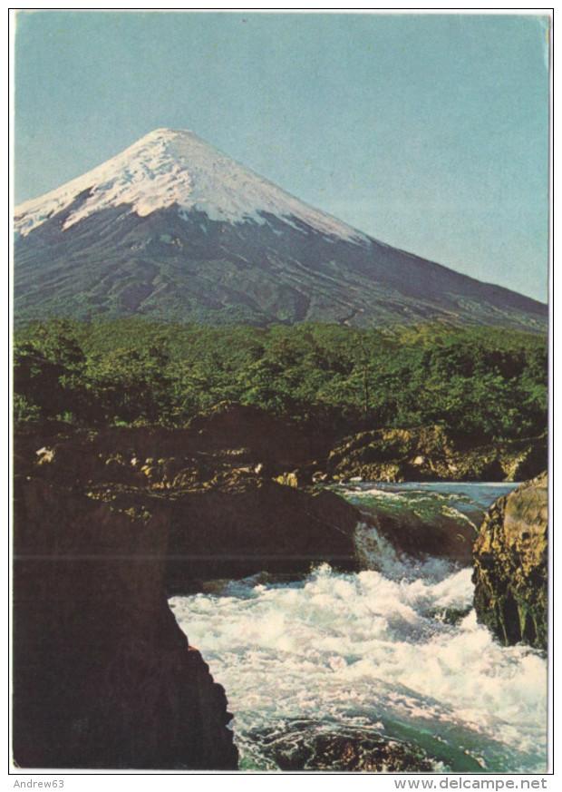 CILE - REPUBLICA DE CHILE - Salto Del Petrohué - Volcan Osorno - Vulcano - Wrote But Not Sent - Chili