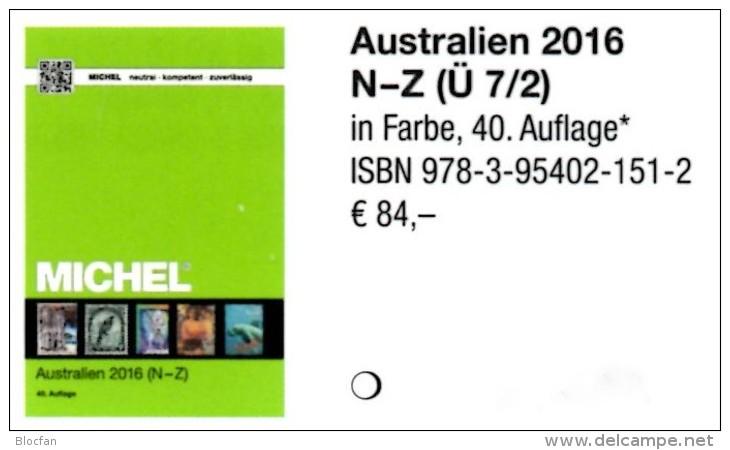 Australien Teil 2 MICHEL Katalog N-Z 2016 Neu 84€ Catalogue Australia Oceanien Zealand Niue Norfolk Palau Tonga Tuvalu - Deutsch