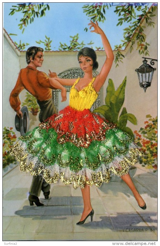 SPANISH SILK #11 - By V CEGARRA - Embroidered
