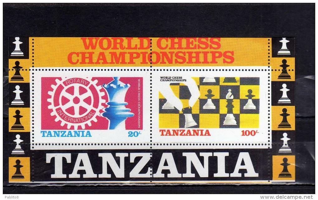 TANZANIA 1986 ROTARY INTERNATIONAL WORLD CHESS SHAMPIONSHIP CAMPIONATO DI SCA...