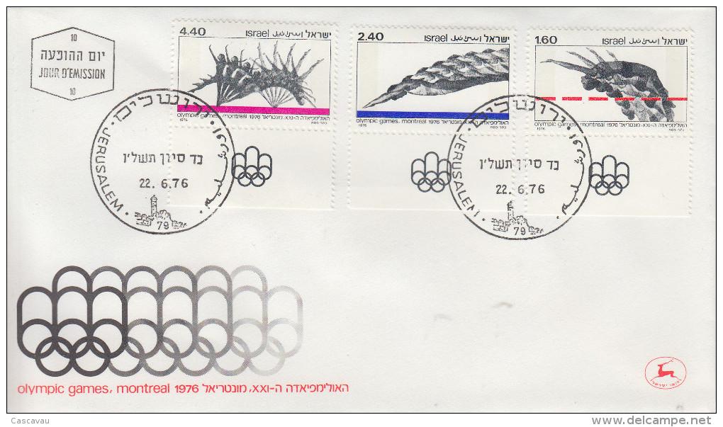 Enveloppe 1er  Jour   ISRAEL    Jeux  Olympiques  MONTREAL   1976 - Estate 1976: Montreal
