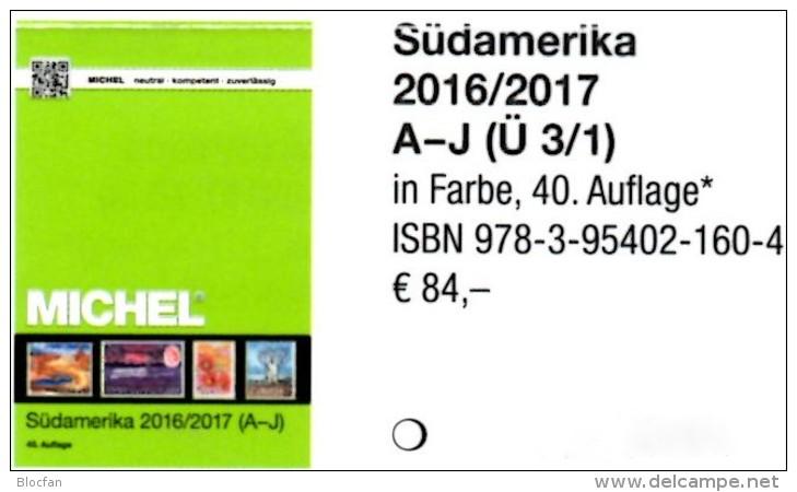 Süd-Amerika A-I Band 3/1 Briefmarken MICHEL 2016/2017 Neu 84€ America Argentinien Bolivien Brazil Chile Ecuador F-Guyana - German