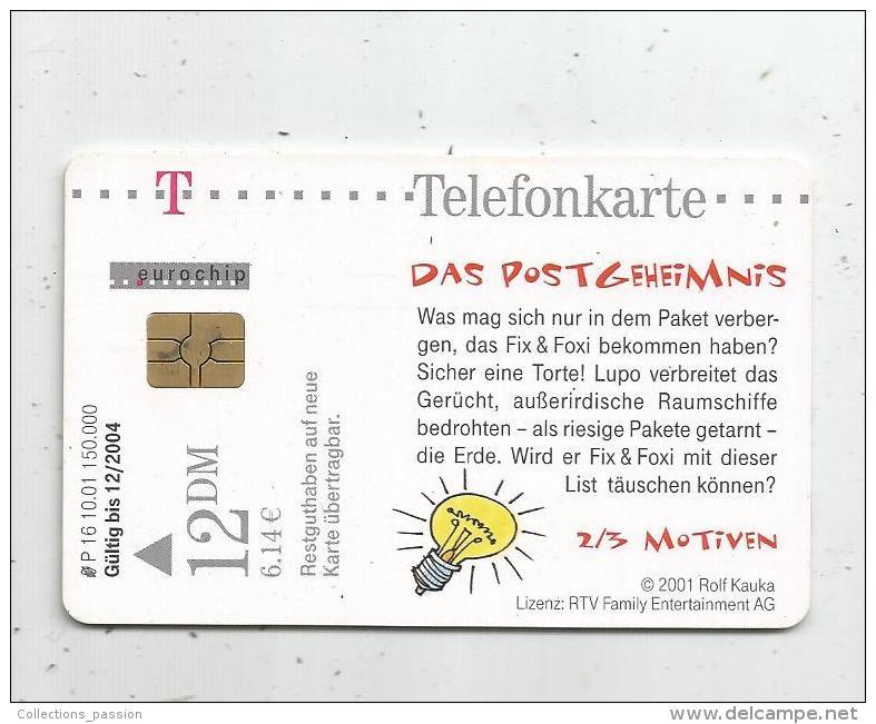 TELEFONKARTE , TELECARTE , Bd , FIX & FOXI , 2 Scans - BD