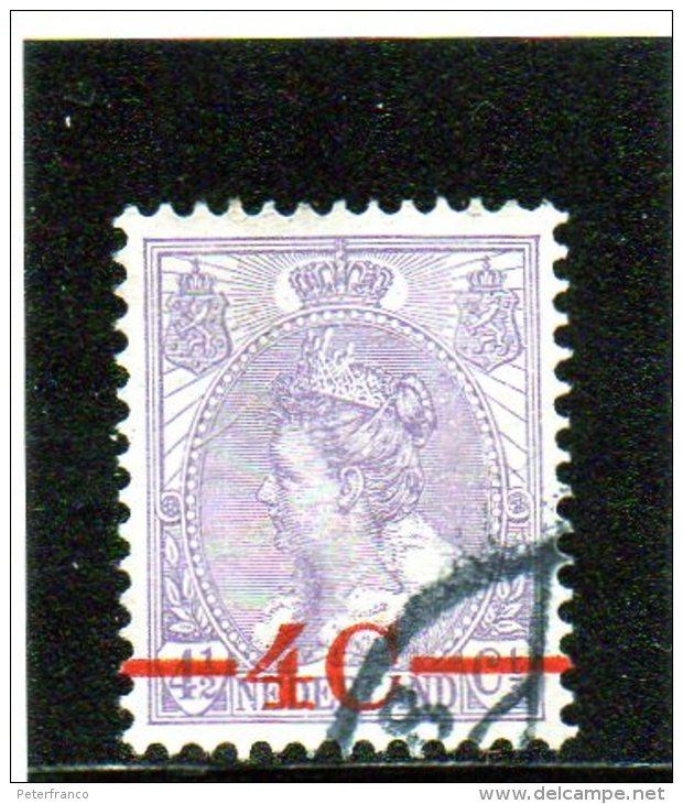1921 Paesi Bassi - Regina Guglielmina - Soprastampato - 1891-1948 (Wilhelmine)