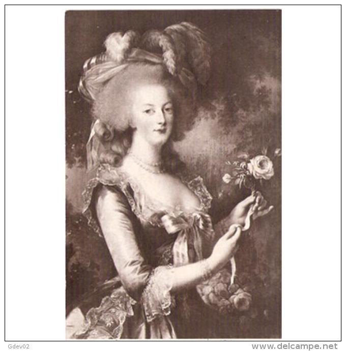 PSNJTP1745CPA-LFTM4036TCMF.Tarjeta Postal PERSONAJES.Pintura.Retrato De.......  Señora Con Rosa.Paris - Femmes Célèbres