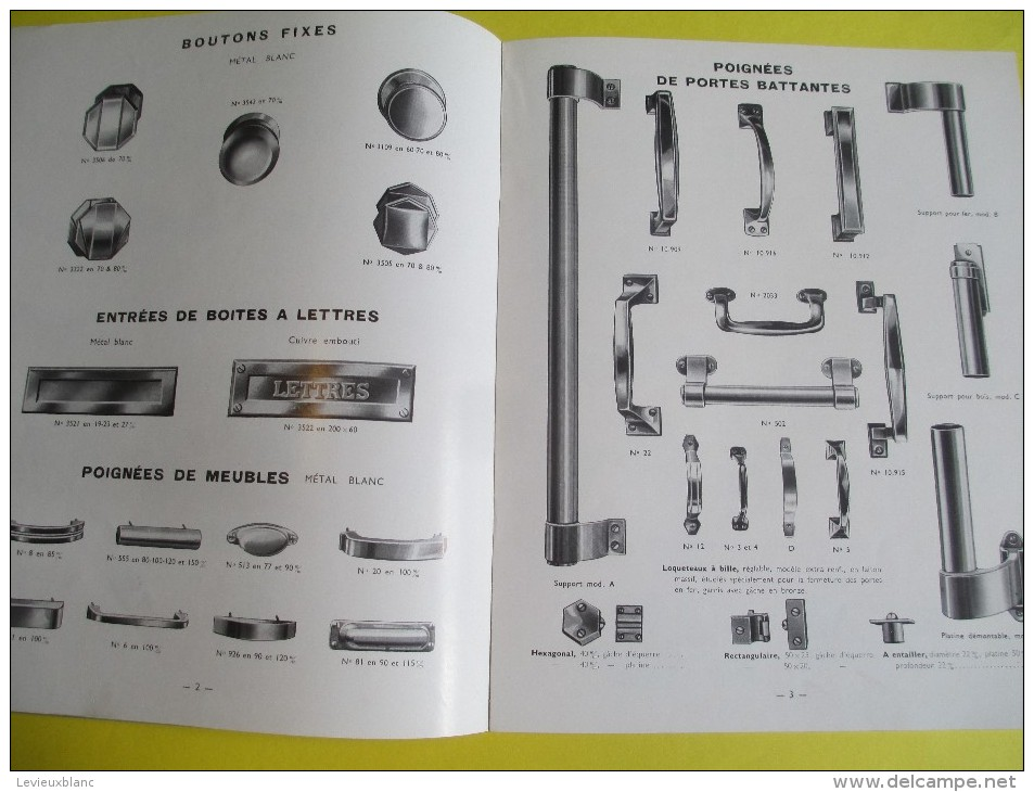 Catalogue De Quincaillerie De Bâtiment/PICARDparis//Ch Bernard/Feuquiére -en-Vimeu/Somme/1951   CAT130 - Catalogues