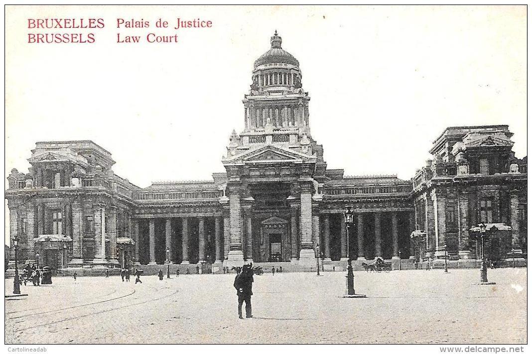 [DC2756] CPA - BELGIO - BRUXELLES - PALACE DE JUSTICE - Non Viaggiata - Old Postcard - Monumenti, Edifici