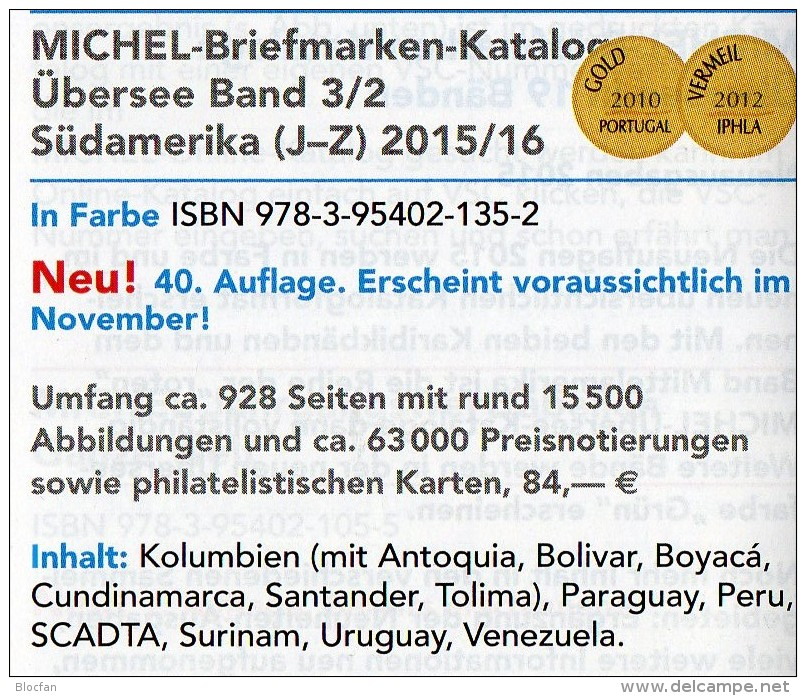 MICHEL 2016 Amerika Band 3/1+2 Neu 168€ Americo Argentinia Bolivien Brazil Chile Ecuador Guyana Paraguay Surinam Uruguay - Alte Papiere