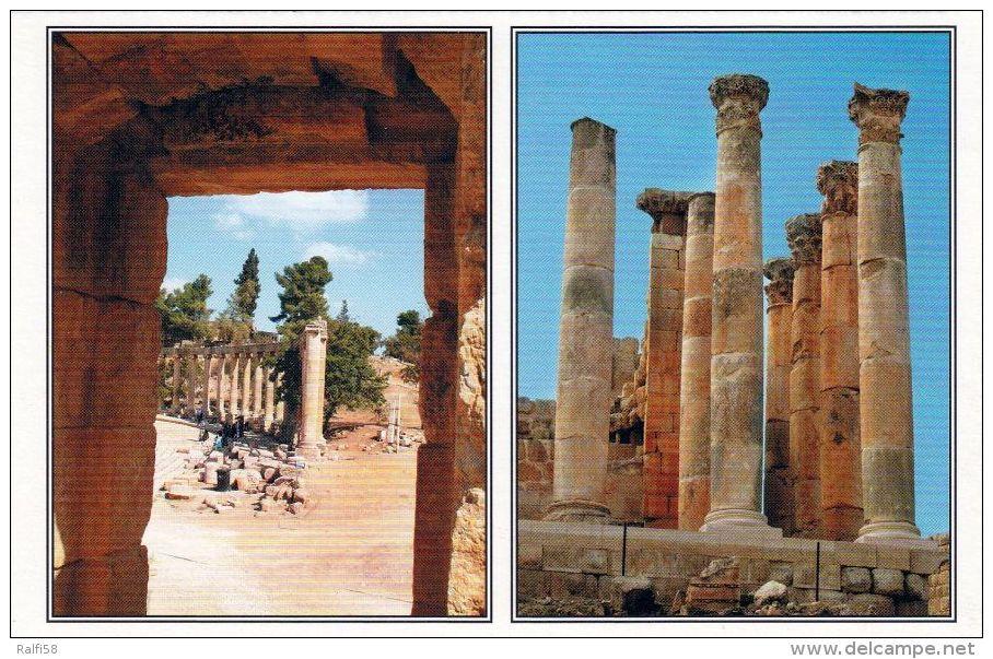 1 AK Jordanien Jordan * Oval Forum & Colums Of Zeus Temple - Das Antike Jerash (auch Gerasa) - Antike Römische Stadt * - Jordanien