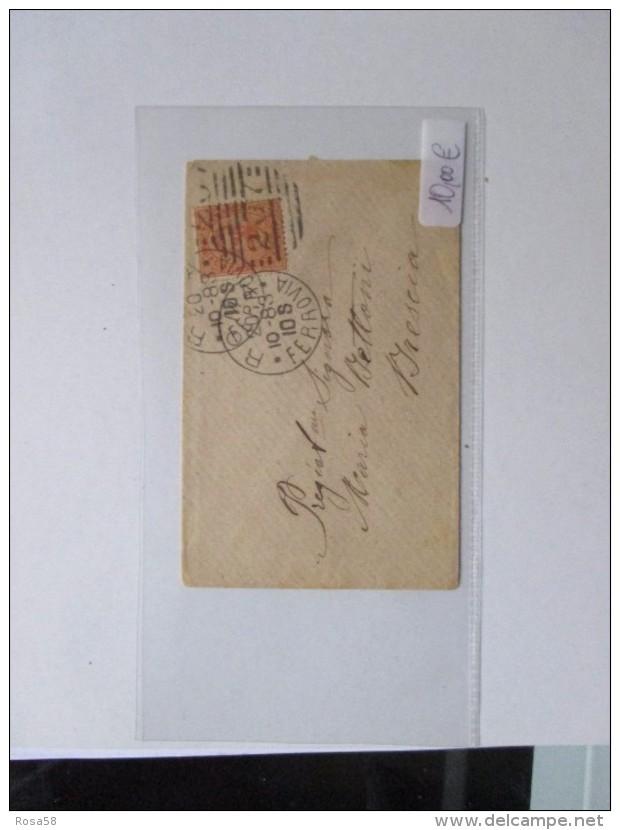 20.101883 Piccola Lettera Viaggiata Da Roma Per Brescia Definitiva Arancione - 1878-00 Umberto I