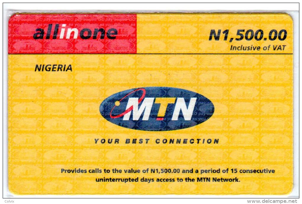 NIGERIA Prepayé MTN ALLINONE - Nigeria