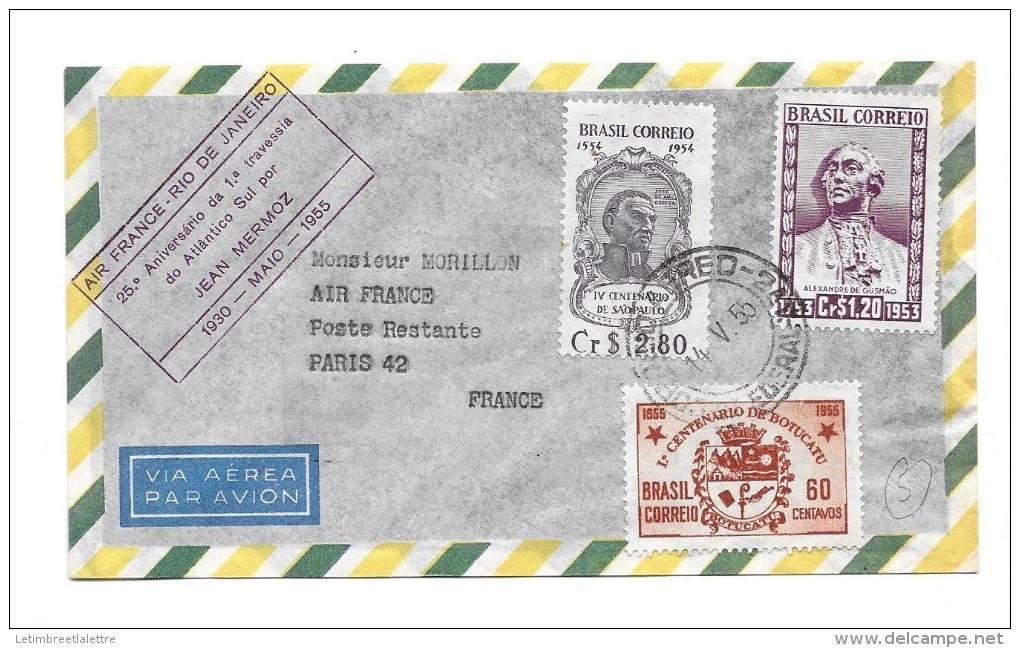 Premier Vol  Air France -Rio De Janeiro 1930 Mai 1955 - Premiers Vols