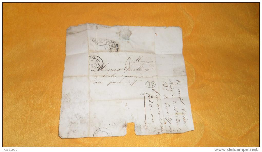 LETTRE ANCIENNE DE 1842. / DEPART ?. A LA COMMUNE DE SAIVET. / CACHETS + TAXE. - 1801-1848: Precursors XIX