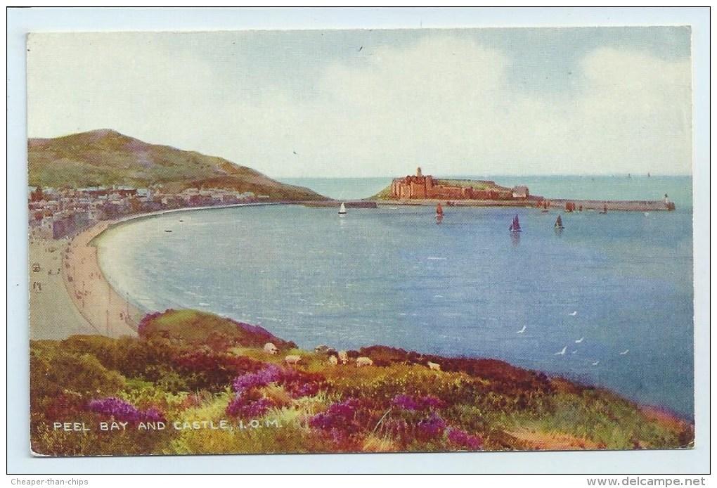 Peel Bay And Castle, I.O.M. - Art Colour - Isle Of Man