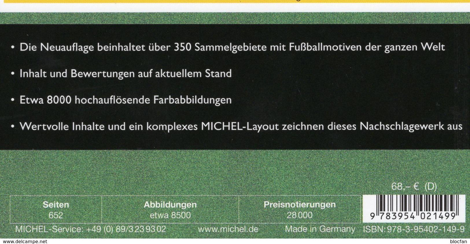 Fußball Catalogue MICHEL 2016 New 68€ Zur EM/Championat Fußballmarken Ganze Welt Topics Soccer Stamps Of The World - Saber