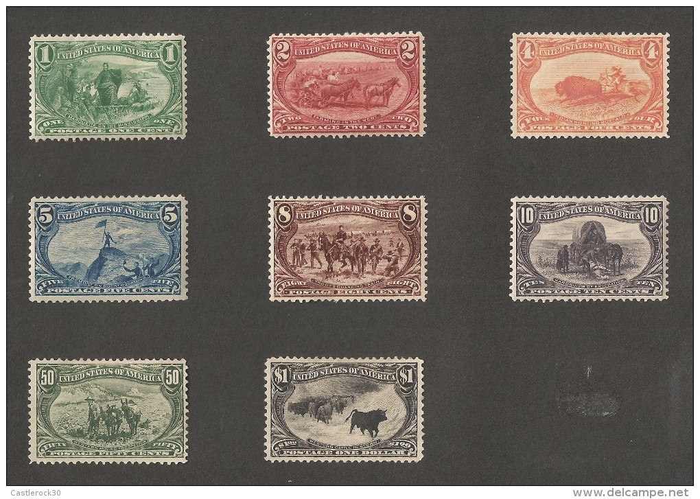 E)1897-1903 USA, TRANS-MISSISIPPI EXPO, WELL CENTERED FRESH, ALMOST COMPLETE SET, MINT, XF NG - 1847-99 General Issues
