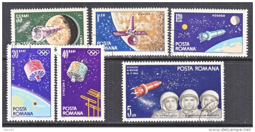 ROMANIA  1711-16  (o)   SPACE - Space