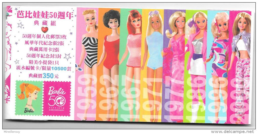 BARBIE FETE SES 50 ANS DEPLIANT 4 PAGES POUPEE - Barbie