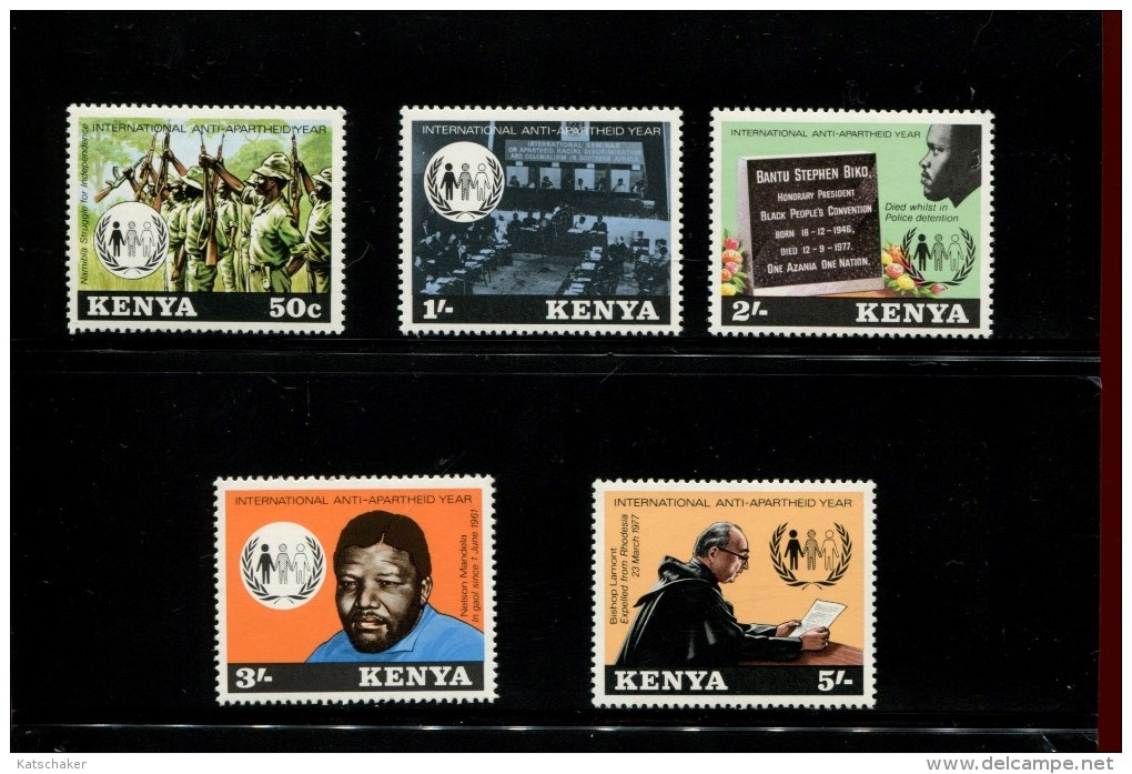 KENIA  POSTFRIS MINT NEVER HINGED POSTFRISCH EINDWANDFREI NEUF SANS CHARNIERE YVERT 129 130 131 132 133 - Kenya (1963-...)