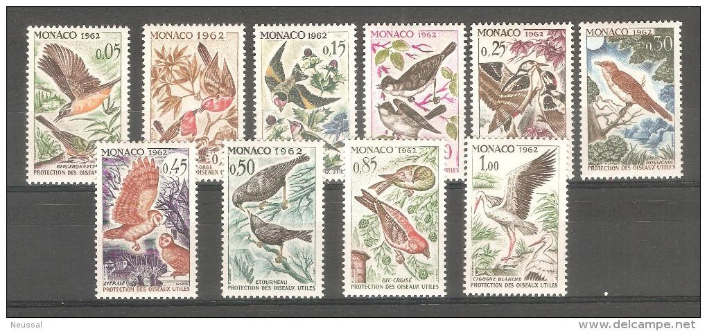 Serie Nº 581/90 Monaco - Birds