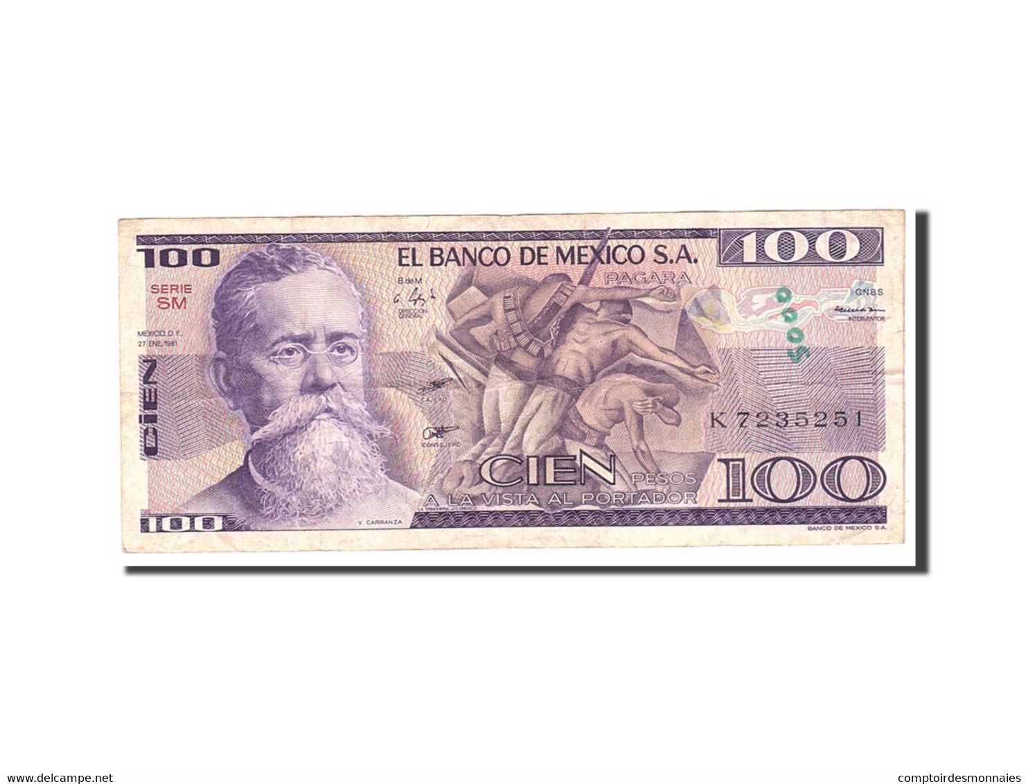 Mexique, 100 Pesos, 1981, KM:74a, 1981-01-27, TTB - Mexique