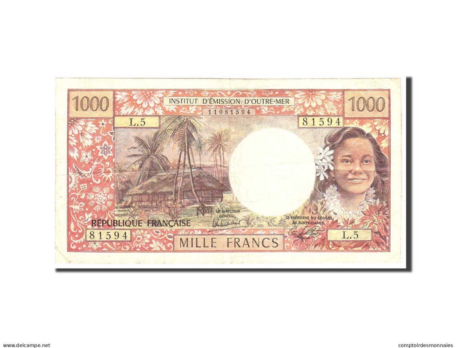 Tahiti, 1000 Francs, 1985, KM:27d, Undated, TB+ - Bankbiljetten