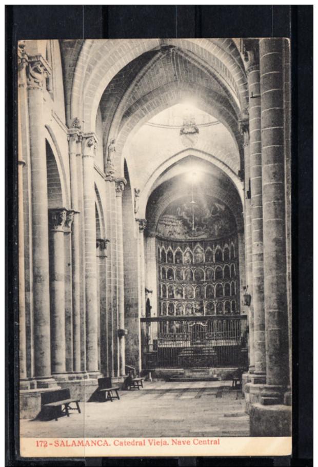 SALAMANCA.CATEDRAL VIEJA.NAVE CENTRAL NO CIRCULADA. 1910 - Salamanca