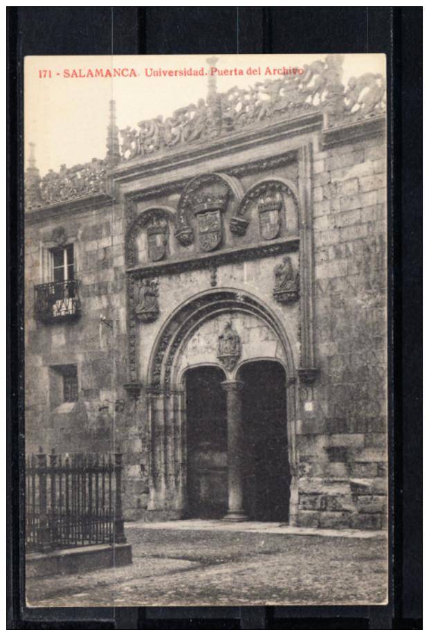 SALAMANCA.UNIVERSIDAD.PUERTA DEL ARCHIVO NO CIRCULADA. 1910 - Salamanca