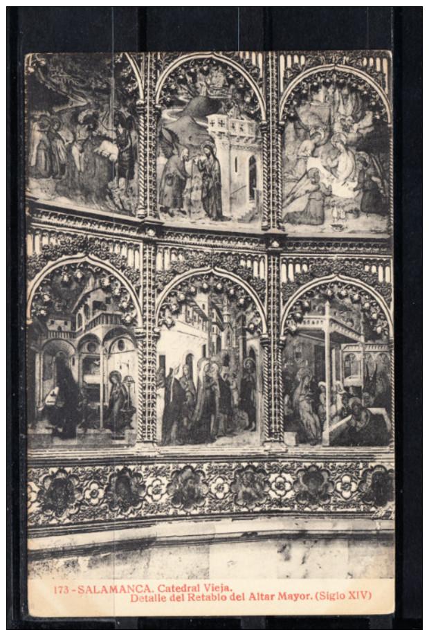 SALAMANCA.CATEDRAL VIEJA.DETALLE DEL RETABLO DEL ALTAR MAYOR.SIGLO XIV  NO CIRCULADA. 1910 - Salamanca