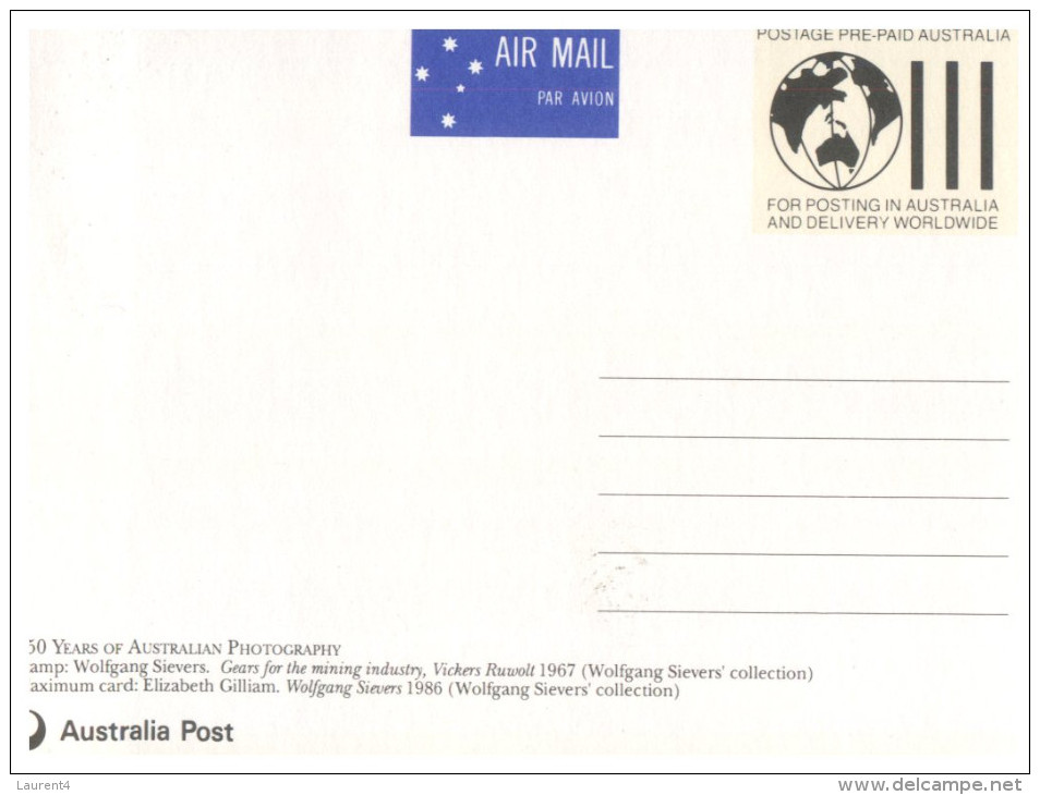 (100) Australia Maxicard Relating To 150 Years Of Photorgraphy In Australia - Métiers