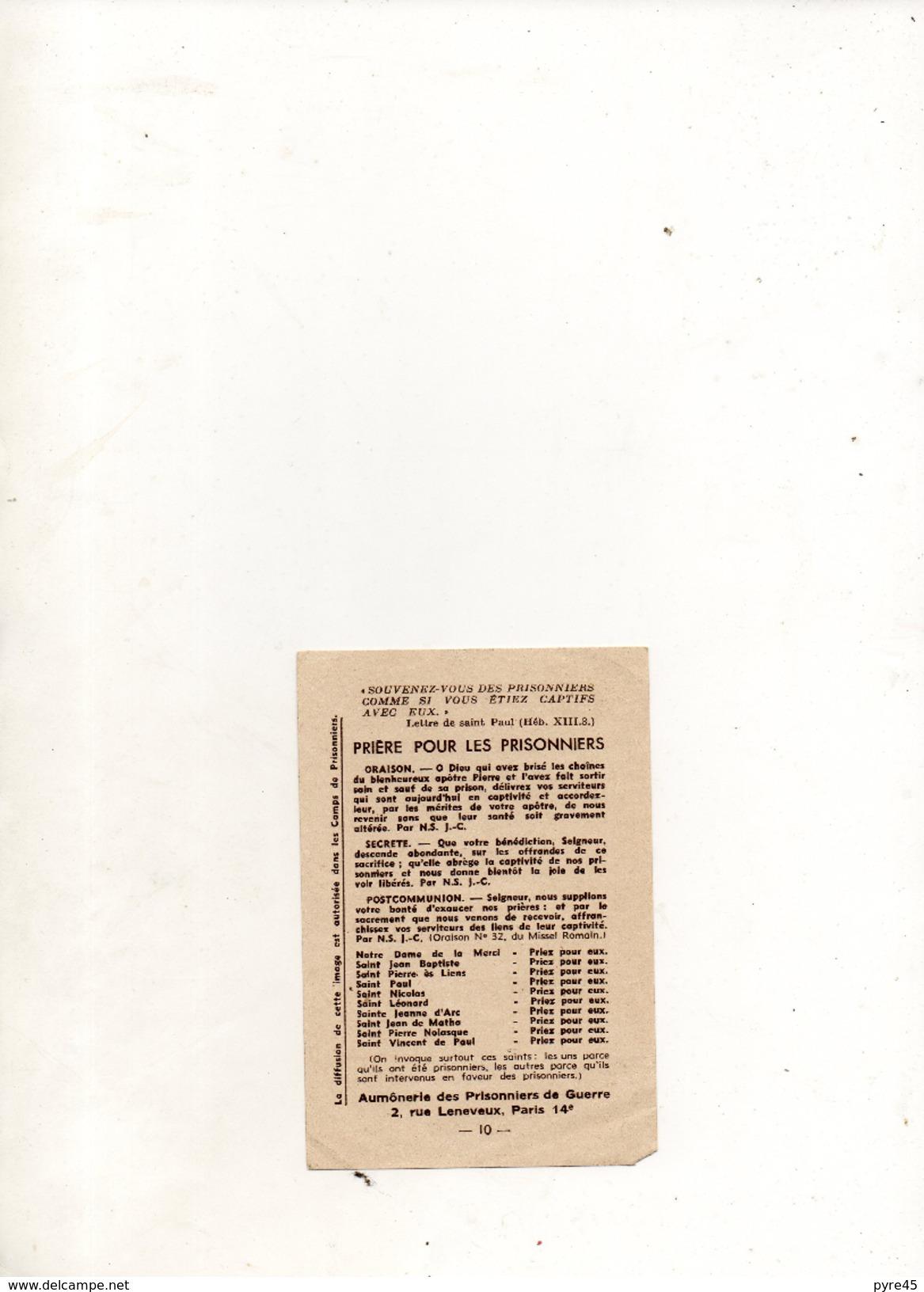 PRIERE POUR LES PRISONNIERS - Documents